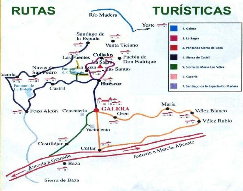 Rutas turisticas de Galera Granada